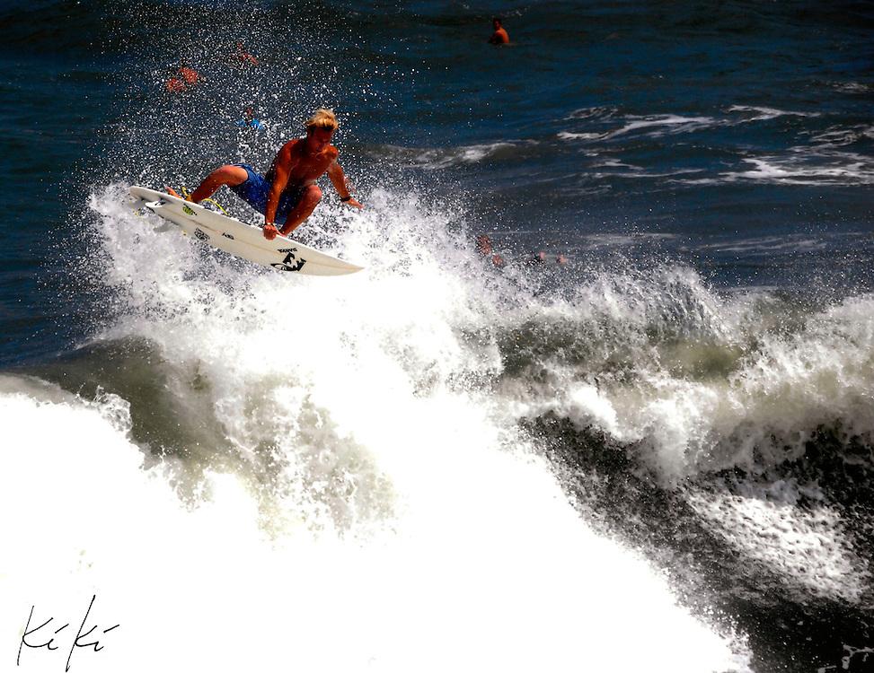 Surf at Jax Beach Pier, Hurricane Earl Sets.