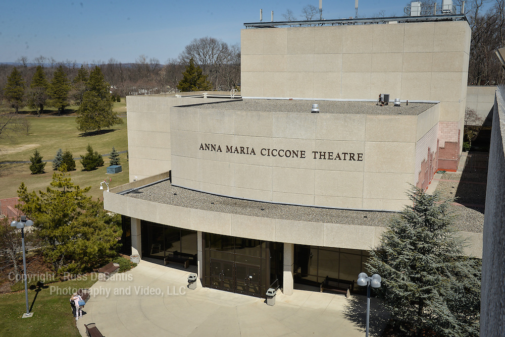 Elevated view of the Anna Maria Ciccone Theatre at Bergen Community College in Paramus. /Russ DeSantis Photography and Video, LLC