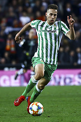 February 28, 2019 - Valencia, Spain - Francis Guerrero of Real Betis Balompie  During Spanish King La Copa match between  Valencia cf vs Real Betis Balompie Second leg  at Mestalla Stadium on February 28, 2019. (Photo by Jose Miguel Fernandez/NurPhoto) (Credit Image: © Jose Miguel Fernandez/NurPhoto via ZUMA Press)