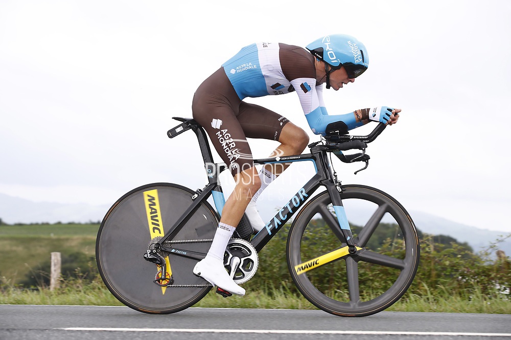 Romain Bardet (FRA - AG2R - La Mondiale) during the 105th Edition of Tour de France 2018, cycling race stage 20, time trial, Saint Pee sur Nivelle - Espelette (31 km) on July 28, 2018 in Espelette, France - Photo Luca Bettini / BettiniPhoto / ProSportsImages / DPPI