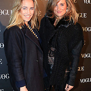 NLD/Amsterdam/20130314 - 1 jarig bestaan magazine Voque Nederland , Jetteke van Lexmond en zus Lieke van Lexmond