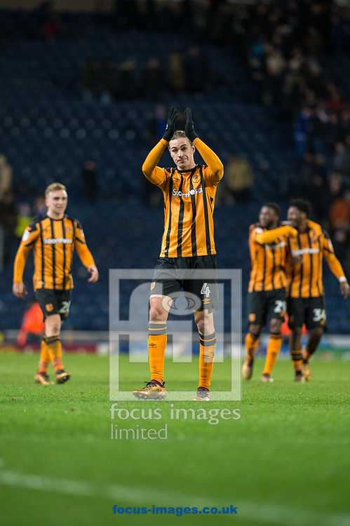 Jackson Irvine of Hull City applauds fans following the FA Cup match at Ewood Park, Blackburn<br /> Picture by Matt Wilkinson/Focus Images Ltd 07814 960751<br /> 06/01/2018
