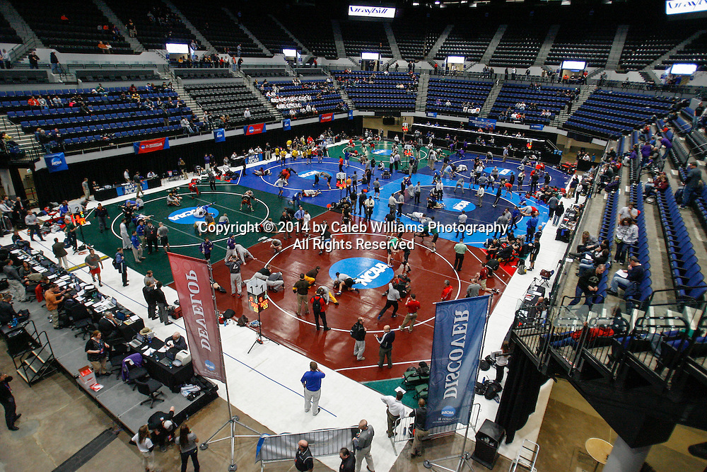 NCAA Division III Wrestling National Championships<br /> Pre Session I<br /> <br /> CEDAR RAPIDS, Iowa (Feb. 14, 2014 -- General Overview of the US CELLULAR CENTER before the first session of competition at the 2014 NCAA Division III Wrestling National Championships.