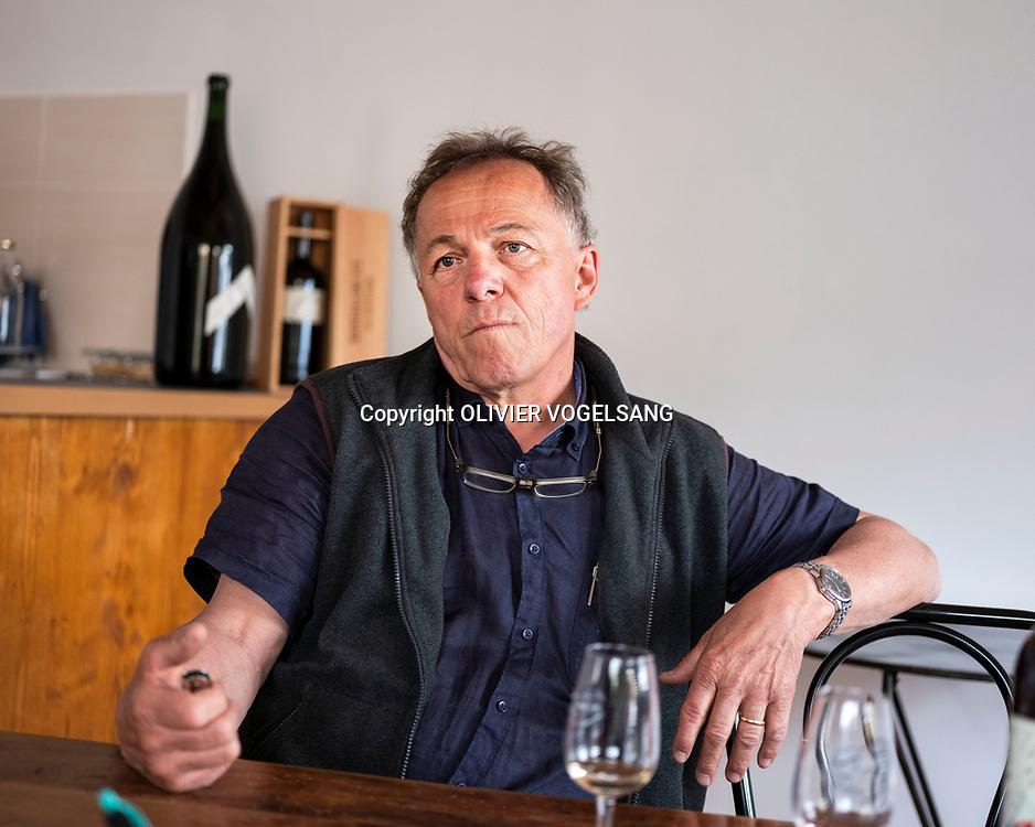 Genève, avril 2018. Willy Cretegny, vigneron et candidat hors partie au deuxième tour du Conseil d'Etat genevois. © Olivier Vogelsang
