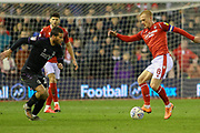 Nottingham Forest Captain Ben Watson  passes the ball during the EFL Sky Bet Championship match between Nottingham Forest and Charlton Athletic at the City Ground, Nottingham, England on 11 February 2020.