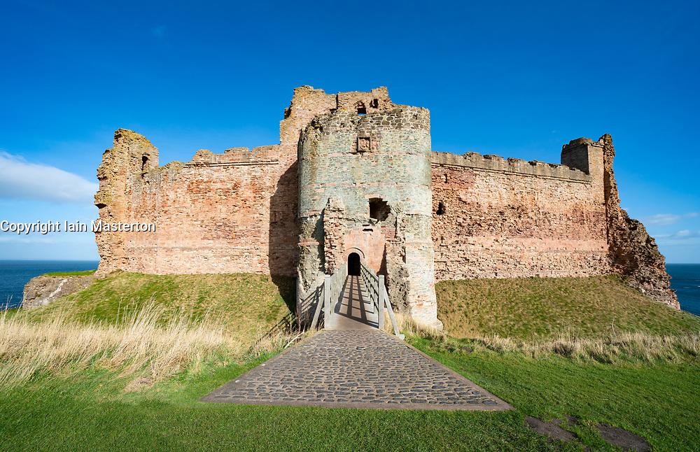 Tantallon Castle in East Lothian , Scotland , UK