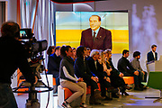 Silvio Berlusconi guest of La7 tv program during the electoral campaing for the political elections. Rome 15 Febraury 2018. Christian Mantuano / OneShot