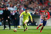 Getafe's Spanish forward Daniel Pacheco runs with the ball during the Spanish Championship Liga football match between Atletico Madrid and Getafe on January 6, 2018 at the Wanda Metropolitano stadium in Madrid, Spain - Photo Benjamin Cremel / ProSportsImages / DPPI