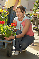 Woman at the Plant Nursery