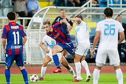 Players during football match between HNK Rijeka and HNK Hajduk Split in 11th Round of Prva Hrvaska Nogometna Liga MaxTV 2013/14 on September 28, 2013 in Stadion Kantrida, Rijeka, Croatia. (Photo By Urban Urbanc / Sportida.com)