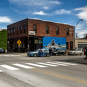 Kansas City, Missouri; Crossroads District area; 18th & Locust Streets; Busy Bee Cafe