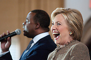 Hillary Clinton rerouted her Atlanta campaign stop at the last minute to City Hall after orginally planning a rally at nearby Georgia State.  In the old council chambers she rallied her supporters with Mayor Kasim Reed, who's endorsed the former secretary of state.