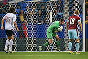 Mark Howard (Bolton Wanderers) makes a save at the near post during the Pre-Season Friendly match between Bolton Wanderers and Burnley at the Macron Stadium, Bolton, England on 26 July 2016. Photo by Mark P Doherty.