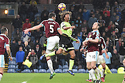 Burnley Defender, Michael Keane (5) and Bournemouth Defender, Nathan Ake (5) during the Premier League match between Burnley and Bournemouth at Turf Moor, Burnley, England on 10 December 2016. Photo by Mark Pollitt.