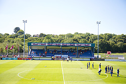 HAVERFORDWEST, WALES - Sunday, August 25, 2013: The Bridge Meadow Stadium before the Group A match between Wales and France of the UEFA Women's Under-19 Championship Wales 2013 tournament. (Pic by David Rawcliffe/Propaganda)