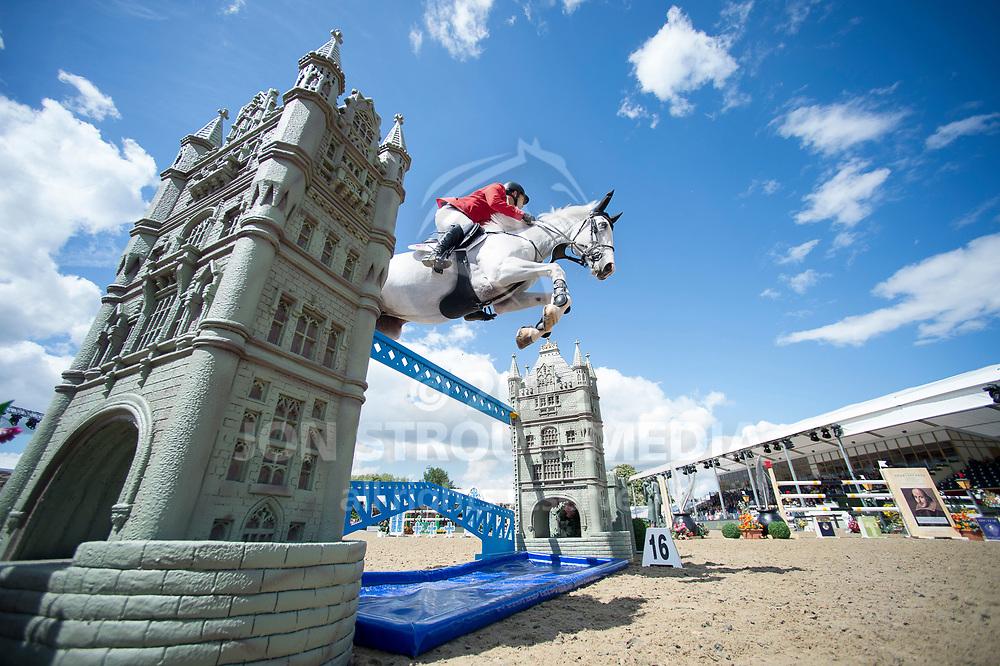 Ibrahim Hani Bisharat  (JOR) & Bowie Z- Rolex Grand Prix - CSI5* Jumping - Royal Windsor Horse Show - Home Park, Windsor, United Kingdom - 14 May 2017
