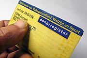 Nederland, Ubbergen, 18-10-2010Een donorregistratiekaart.Foto: Flip Franssen