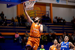 Nikola Gajic of KK Helios Suns during basketball match between KK Helios Suns and KK Rogaska in ABA League Second division, on October 31, 2018 in Sports hall Domzale, Domzale, Slovenia. Photo by Urban Urbanc / Sportida