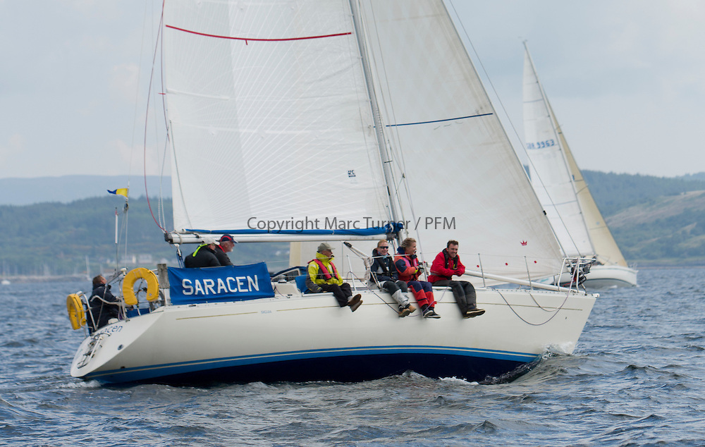 Day three of the Silvers Marine Scottish Series 2016, the largest sailing event in Scotland organised by the  Clyde Cruising Club<br /> Racing on Loch Fyne from 27th-30th May 2016<br /> <br /> Saracen<br /> <br /> <br /> Credit : Marc Turner / CCC<br /> For further information contact<br /> Iain Hurrel<br /> Mobile : 07766 116451<br /> Email : info@marine.blast.com<br /> <br /> For a full list of Silvers Marine Scottish Series sponsors visit http://www.clyde.org/scottish-series/sponsors/