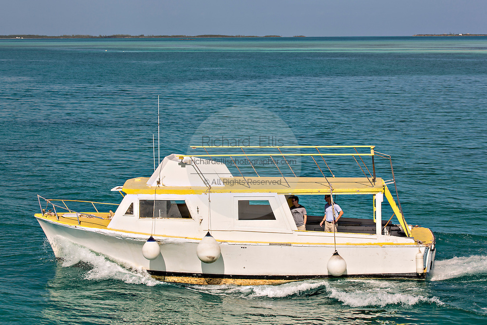 Ferry boat to Eleuthera Island from Dunmore Town, Harbour Island, The Bahamas.