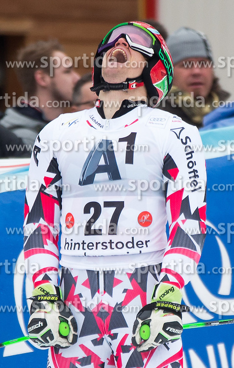28.02.2016, Hannes Trinkl Rennstrecke, Hinterstoder, AUT, FIS Weltcup Ski Alpin, Hinterstoder, Riesenslalom, Herren, 2. Lauf, im Bild Roland Leitinger (AUT) // Roland Leitinger of Austria reacts after his 2nd run of men's Giant Slalom of Hinterstoder FIS Ski Alpine World Cup at the Hannes Trinkl Rennstrecke in Hinterstoder, Austria on 2016/02/28. EXPA Pictures © 2016, PhotoCredit: EXPA/ Johann Groder