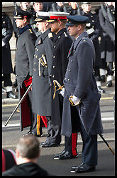 November 11, 2018 - London, London, United Kingdom - Image licensed to i-Images Picture Agency. 11/11/2018. London, United Kingdom. Prince Edward, Prince Andrew, Prince Harry and Prince William at the Remembrance Sunday service at The Cenotaph in London on  the Centenary of the end of the First World War. (Credit Image: © Stephen Lock/i-Images via ZUMA Press)