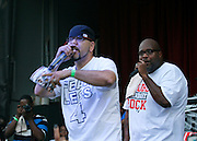 Devastating Tito and Chubb Rock perform during the City Parks Foundation Salute to Hip Hop event at Von King Park in Brooklyn, New York on June 18, 2014.