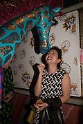 GIANNI GIRAFFE; MILA ASKAROVA,  Gazelli host The Colbert Art Party last night at  LouLou's, The Bauer in Venice, Venice Biennale, Venice. 7 May 2015