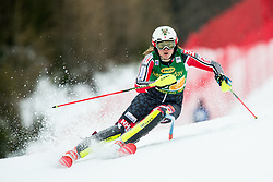 "Laurence St-Germain (CAN) in action during 1st Run of the FIS Alpine Ski World Cup 2017/18 7th Ladies' Slalom race named ""Golden Fox 2018"", on January 7, 2018 in Podkoren, Kranjska Gora, Slovenia. Photo by Ziga Zupan / Sportida"
