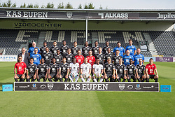 July 11, 2017 - Eupen, BELGIUM - Eupen's players and staff pose for the photographer during the 2017-2018 season photo shoot of Belgian first league soccer team KAS Eupen, Tuesday 11 July 2017 in Eupen. BELGA PHOTO BRUNO FAHY (Credit Image: © Bruno Fahy/Belga via ZUMA Press)