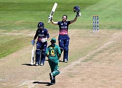Sarah Taylor of England Women celebrates reaching a century against South Africa Women - Mandatory by-line: Robbie Stephenson/JMP - 05/07/2017 - CRICKET - County Ground - Bristol, United Kingdom - England Women v South Africa Women - ICC Women's World Cup Group Stage