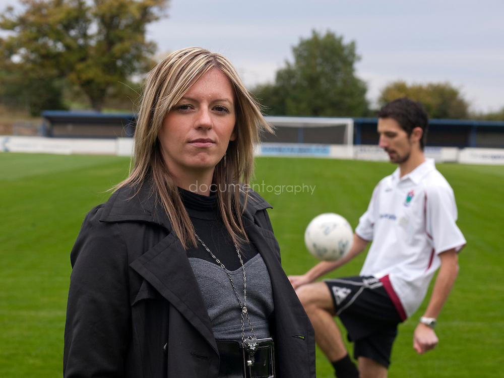 Professional football player and founder of Vi-ability, Kelly Davies at the Colwyn Bay FC, Colwyn Bay, Whales...OLYMPUS DIGITAL CAMERA
