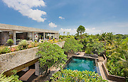 View from the rooftop patio of a modern villa, Canggu, Bali