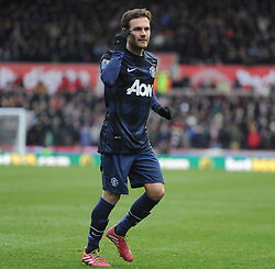 Manchester United's Juan Mata - Photo mandatory by-line: Alex James/JMP - Tel: Mobile: 07966 386802 01/02/2014 - SPORT - FOOTBALL - Britannia Stadium - Stoke-On-Trent - Stoke v Manchester United - Barclays Premier League