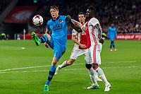 AMSTERDAM - 05-04-2017, Ajax - AZ, Stadion Arena, AZ speler Wout Weghorst, Ajax speler Davinson Sanchez