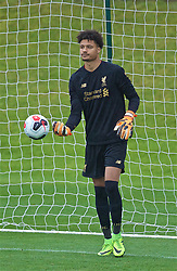 KIRKBY, ENGLAND - Saturday, August 10, 2019: Liverpool's goalkeeper Shamal George looks dejected as Tottenham Hotspur score a third goal, from a penalty kick, during the Under-23 FA Premier League 2 Division 1 match between Liverpool FC and Tottenham Hotspur FC at the Academy. (Pic by David Rawcliffe/Propaganda)