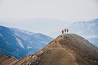 Team Crested Butte running the ridge on Mount Bellview, Elk Range, Colorado.