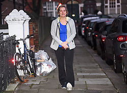 © Licensed to London News Pictures. 11/12/2018. London, UK. Secretary of State for Work and Pensions AMBER RUDD is seen returning after exercising near her London Home.  British Prime Minister Theresa May has been forced to call off a vote on the withdrawal agreement after is became apparent she was loose heavily. Photo credit: Ben Cawthra/LNP