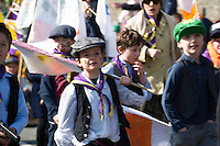 17/03/2016 Kinvara Cubs at the the St. Patrick's Day Parade in Kinvara Co. Galway. Photo:Andrew Downes, xposure.