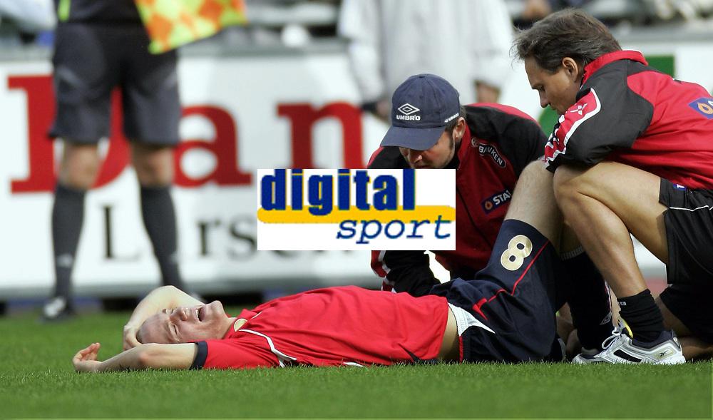 Fotball<br /> Landskamp U21<br /> Danmark v Norge 1-3<br /> Helsing&oslash;r<br /> 05.10.2006<br /> Foto: Morten Olsen, Digitalsport<br /> <br /> Morten H&aelig;stad - Norge og Haugesund
