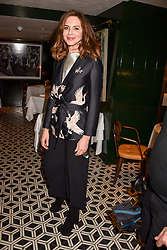 Trinny Woodall at a party to celebrate the publication of Place by Tara Bernerd held at il Pampero at The Hari, 20 Chesham Place, London, England. 8 March 2017.