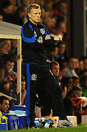 London - Tuesday, 21st September, 2010: David Moyes, manager of Everton looks on during the Carling Cup 3rd Round match at Griffin Park, London...Pic by: Alex Broadway/Focus Images