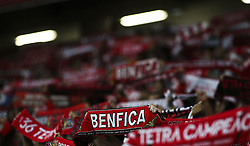 September 23, 2017 - Lisbon, Portugal - Benfica supporters waving their scarfs during the Portuguese League  football match between SL Benfica and FC Pacos de Ferreira at Luz  Stadium in Lisbon on September 23, 2017. (Credit Image: © Carlos Costa/NurPhoto via ZUMA Press)