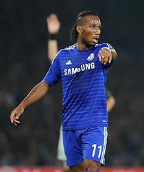 Chelsea's Didier Drogba - Photo mandatory by-line: Alex James/JMP - Mobile: 07966 386802 - 17/09/2014 - SPORT - FOOTBALL - London - Stamford Bridge - Chelsea v Schalke 04 - Champions League Group Stage