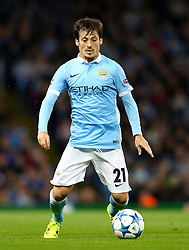 David Silva of Manchester City during the UEFA Champions League group stage match between Manchester City and Juventus at the Etihad Stadium - Mandatory byline: Matt McNulty/JMP - 07966386802 - 15/09/2015 - FOOTBALL - Etihad Stadium -Manchester,England - Manchester City v Juventus - UEFA Champions League - Group D