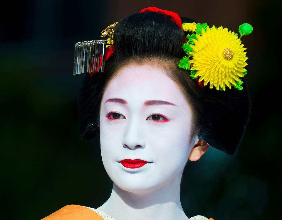 Kyoto, OCT  22: a participant on The Jidai Matsuri ( Festival of the Ages) held on October 22 2009  in Kyoto, Japan . It is one of Kyoto's renowned three great festivals