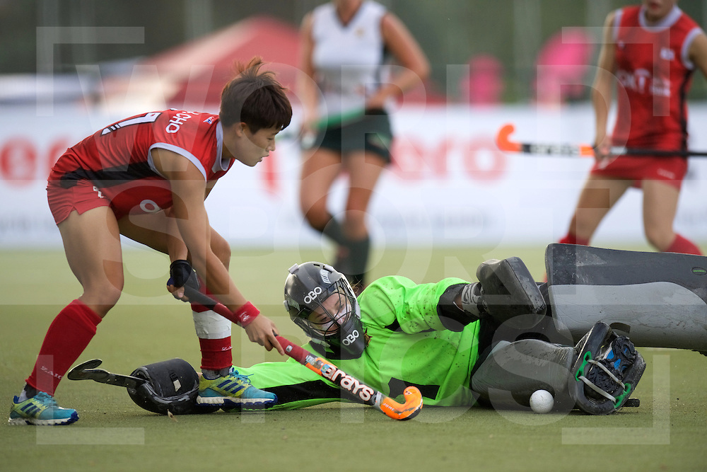 SANTIAGO - 2016 8th Women's Hockey Junior World Cup<br /> KOR v ZIM (Pool A)<br /> foto: Jordyn Clipstone (Gk)  <br /> FFU PRESS AGENCY COPYRIGHT FRANK