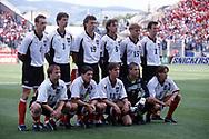 FIFA World Cup - France 1998<br /> 17.6.1998, Stade Geoffroy-Guichard, St. Etienne, France.<br /> Group B, Chile v Austria.<br /> Austria starting line-up, standing from left: Anton Pfeffer, Peter Schöttel, Toni Polster, Heimo Pfeiffenberger, Arnold Wetl, Mario Haas.<br /> Kneeling: Roman Mahlich, Dietmar Kühbauer, Harald Cerny, Michael Konsel, Wolfgang Feiersinger.