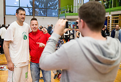 Goran Jagodnik of Ilirija with fans at Jagodnik's end of a career after basketball match between KD Ilirija and KK Mesarija Prunk Sezana in Last Round of 2. SKL  2016/17, on April 15, 2017 in GIB center, Ljubljana, Slovenia. Photo by Vid Ponikvar / Sportida