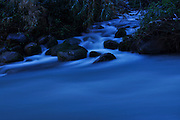 Flowing water at dawn
